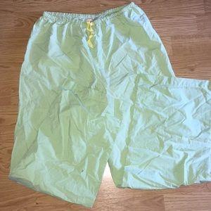 Cute yellow green gingham Victoria's Secret pajama